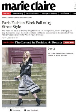 All You Need Is Style Paris Fashion Week Marie Claire