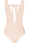 Miu Miu. Plunge-front swimsuit. $215